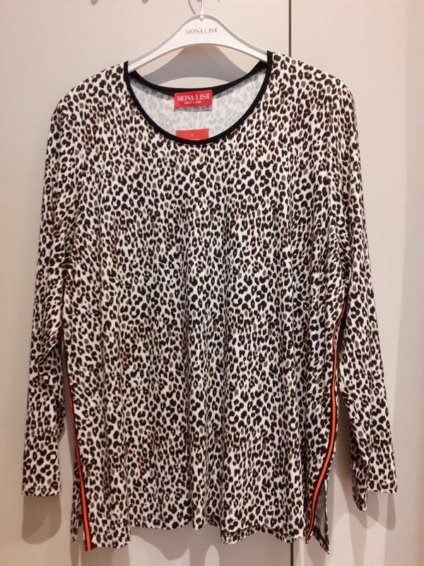 T shirt 3/4 mouw leopard // Mona LIsa