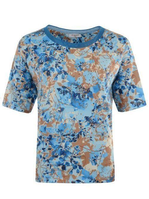 T shirt tricot boord aan decolleté